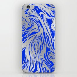 Marbled Blue iPhone Skin