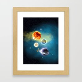 New Solar System Framed Art Print