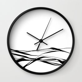 A Bottomless Sea No. 2 Black and white Wall Clock