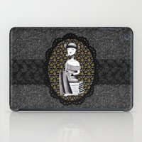 literary iPad Cases featuring Literary girl - La littéraire by Andi Lee artworks