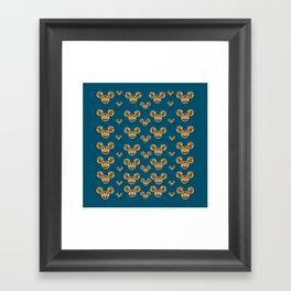 Cartoon animals in gold and silver gift decorations Framed Art Print