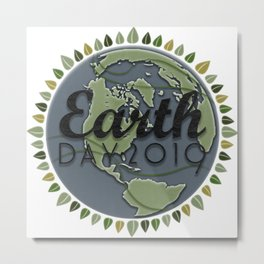 Earth Day 2019 - Textured paper Metal Print