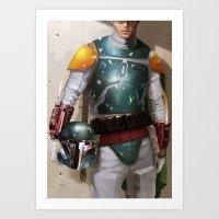boba fett Art Prints featuring Boba Fett by Yvan Quinet