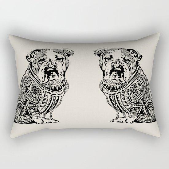 Polynesian English Bulldog Rectangular Pillow