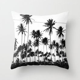 Palms all over Throw Pillow