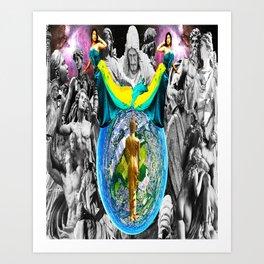 Gods' (Plan) Art Print