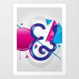 Circles & Triangles Art Print