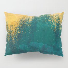Gold Rush Peacock Pillow Sham