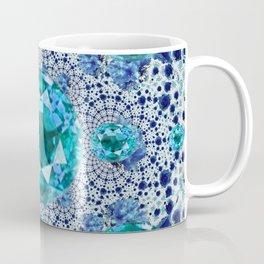Aquamarine Gems Optical Pattern March Birthstone Art Coffee Mug
