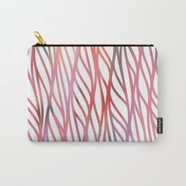 Geometrical coral pink teal watercolor pattern Carry-All Pouch
