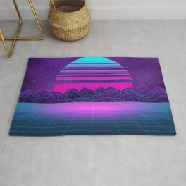 Future Sunset Vaporwave Aesthetic Rug