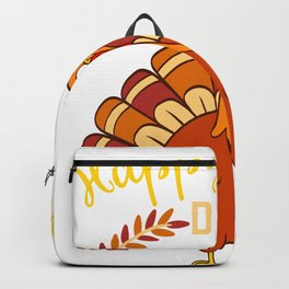 Happy Turkey Day Thanksgiving Save A Turkey Awareness T-shirt Design Veggy Vegetarian Vegan  Backpack
