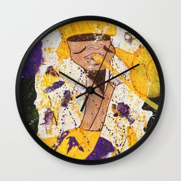 """""""I BLEED PURPLE AND GOLD"""" Wall Clock"""