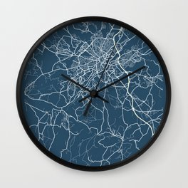 Limoges Blueprint Street Map, Limoges Colour Map Prints Wall Clock