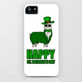 ST PATRICKS DAY LLAMA Ireland Gift Kids iPhone Case