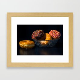 Donuts in Bowl Framed Art Print