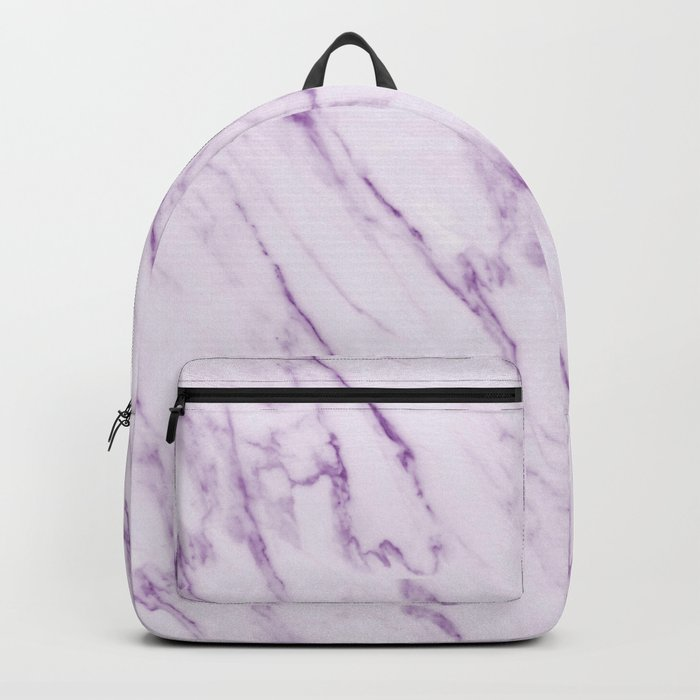 Purple Swirl Marble Backpack