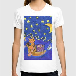 Owl and Pussycat rowed at night T-shirt