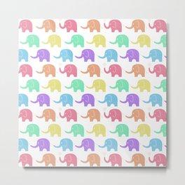 Elephant Fiesta Metal Print