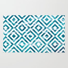Geometric Watercolor Rug