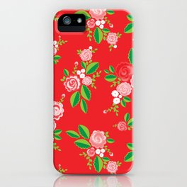 Red Summer Rose iPhone Case