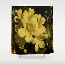 Yellow Carolina Jasmine Blossom Close Up Shower Curtain