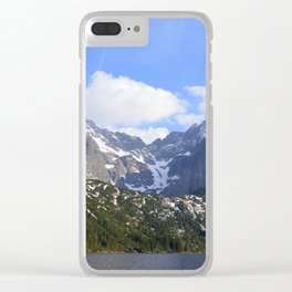 A Beautiful Day at Morskie Oko Clear iPhone Case