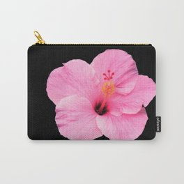 Hibiscus on Black Carry-All Pouch
