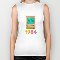 1984 Biker Tanks featuring 1984 by Laura Wood