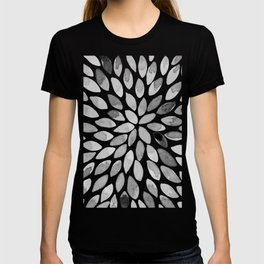 Watercolor brush strokes - black and white T-shirt