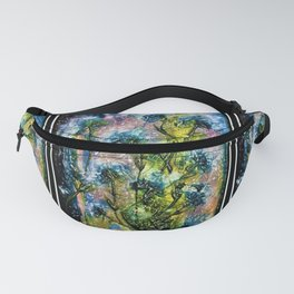 William Blake Wild Flower Panels by Jéanpaul Ferro Fanny Pack
