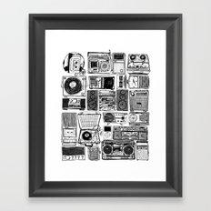 Music Boxes Framed Art Print