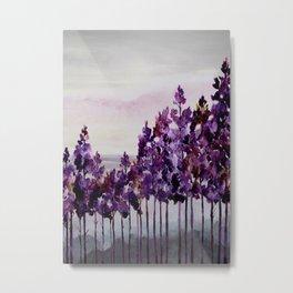 Purple Trees Metal Print
