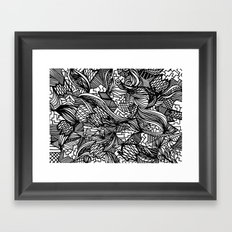 Pattern Crazy Framed Art Print