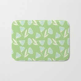 Flowers and wind Bath Mat