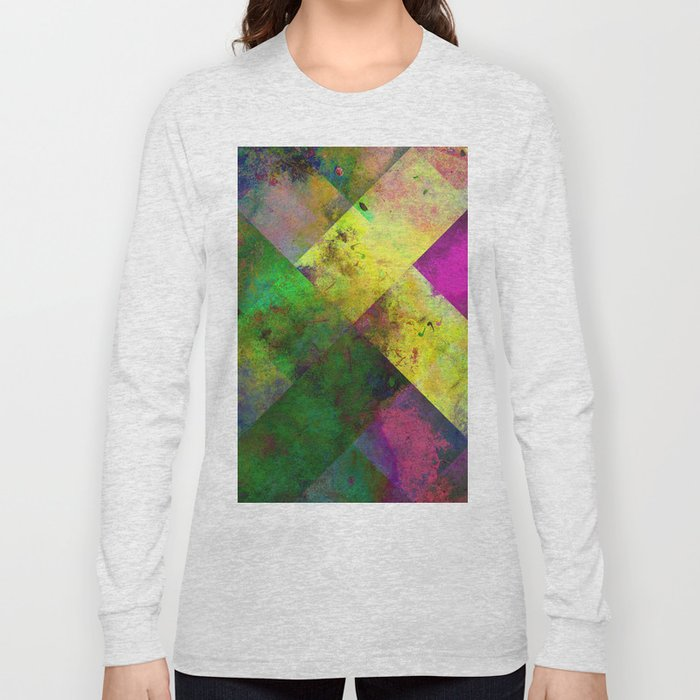 Dark Diamonds - Textured, patterned painting Long Sleeve T-shirt