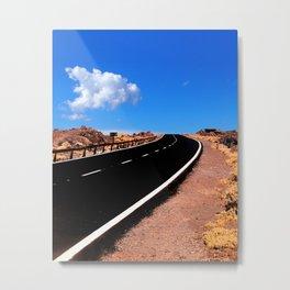 Two Lane Empty Road Metal Print