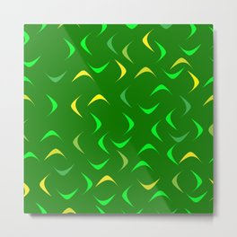 Swirls for decoration of green products. Metal Print