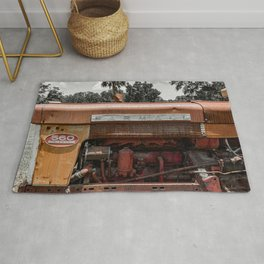 Rusty Red McCormick 560 Vintage Farmall Tractor  Rug