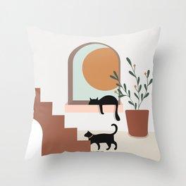 Sunset at Home Throw Pillow