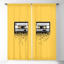 Retro Tape Blackout Curtain