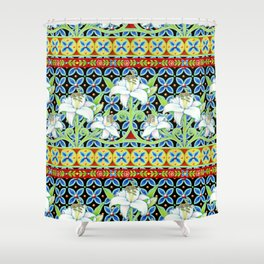 Elizabethan Folkloric Lily Shower Curtain