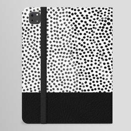 Dots and Black iPad Folio Case
