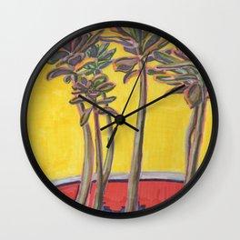 Tea Shop Plant Wall Clock