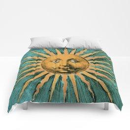 Vintage Sun Print Comforters