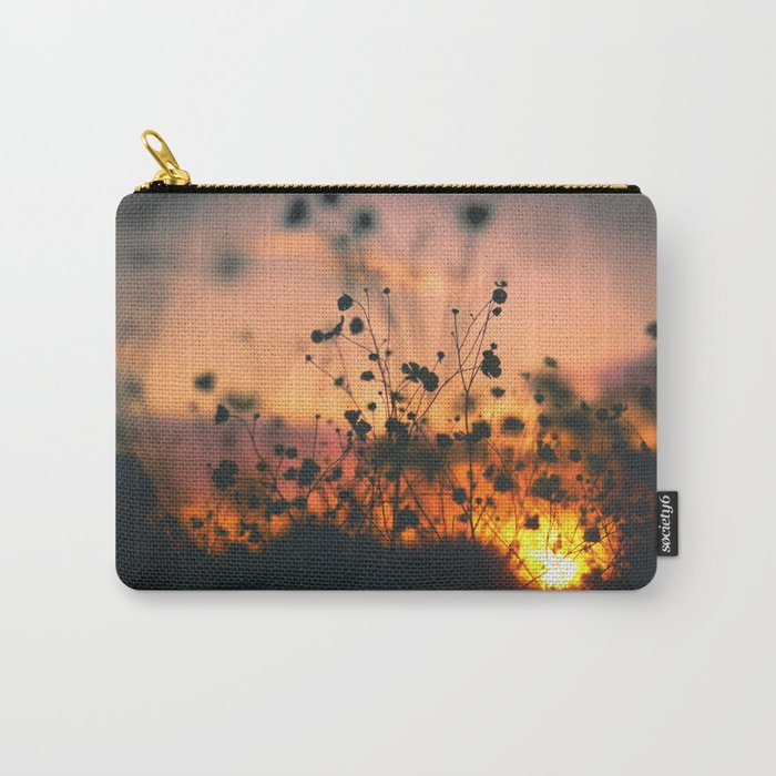 Poppy flowers shadows over sunset Carry-All Pouch