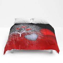 love is everywhere Comforters