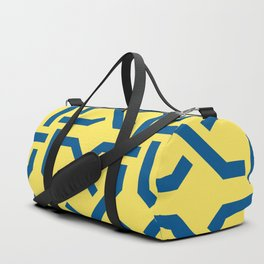 Abstract yellow-blue pattern Duffle Bag