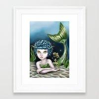 capricorn Framed Art Prints featuring Capricorn by Paula Ellenberger