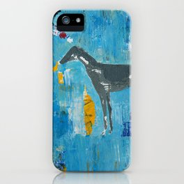 Greyhound Dog Abstract Painting iPhone Case